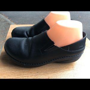 Spring Step Woolin Slip-On Black Leather Shoes